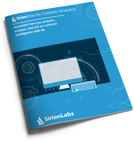 [Product Brochure] SirionOne for Contract Analytics