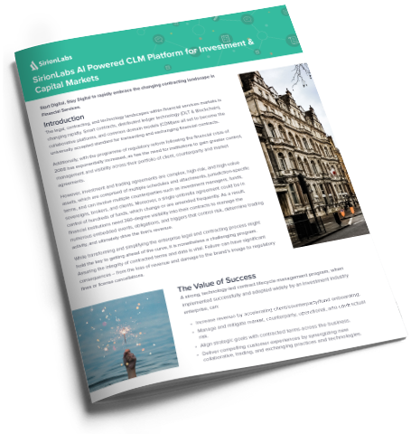 [Product Brief] Sirion CLM for Investment & Capital Markets