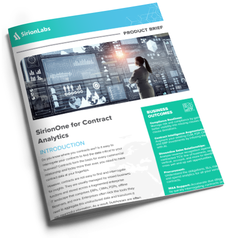[Product Brief] SirionOne for Contract Analytics