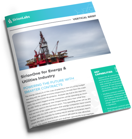 [Product Brief] SirionOne for Energy