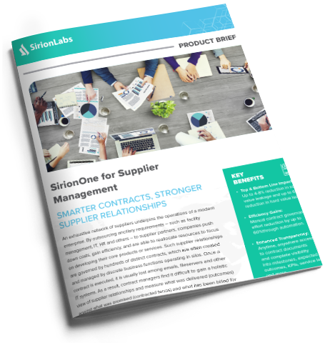 [Product Brief] SirionOne for Supplier Management