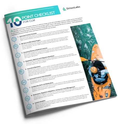 [Product Checklist] 10-point Checklist for the Ideal CLM Platform