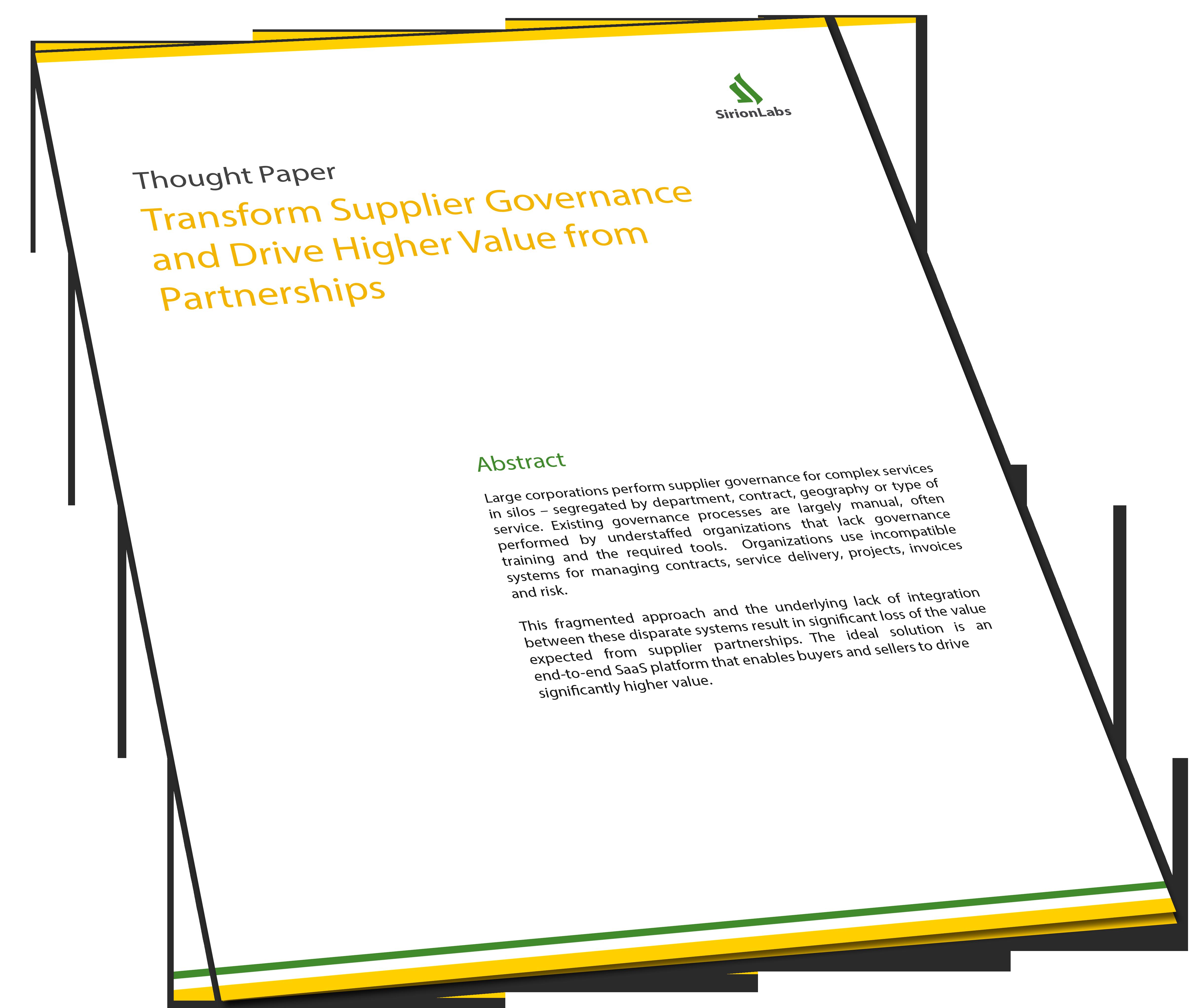 Whitepaper - Transform Supplier Governance