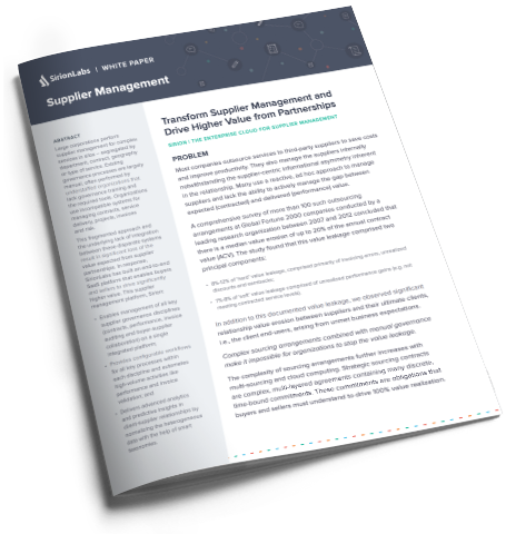Whitepaper- Transform Supplier Management