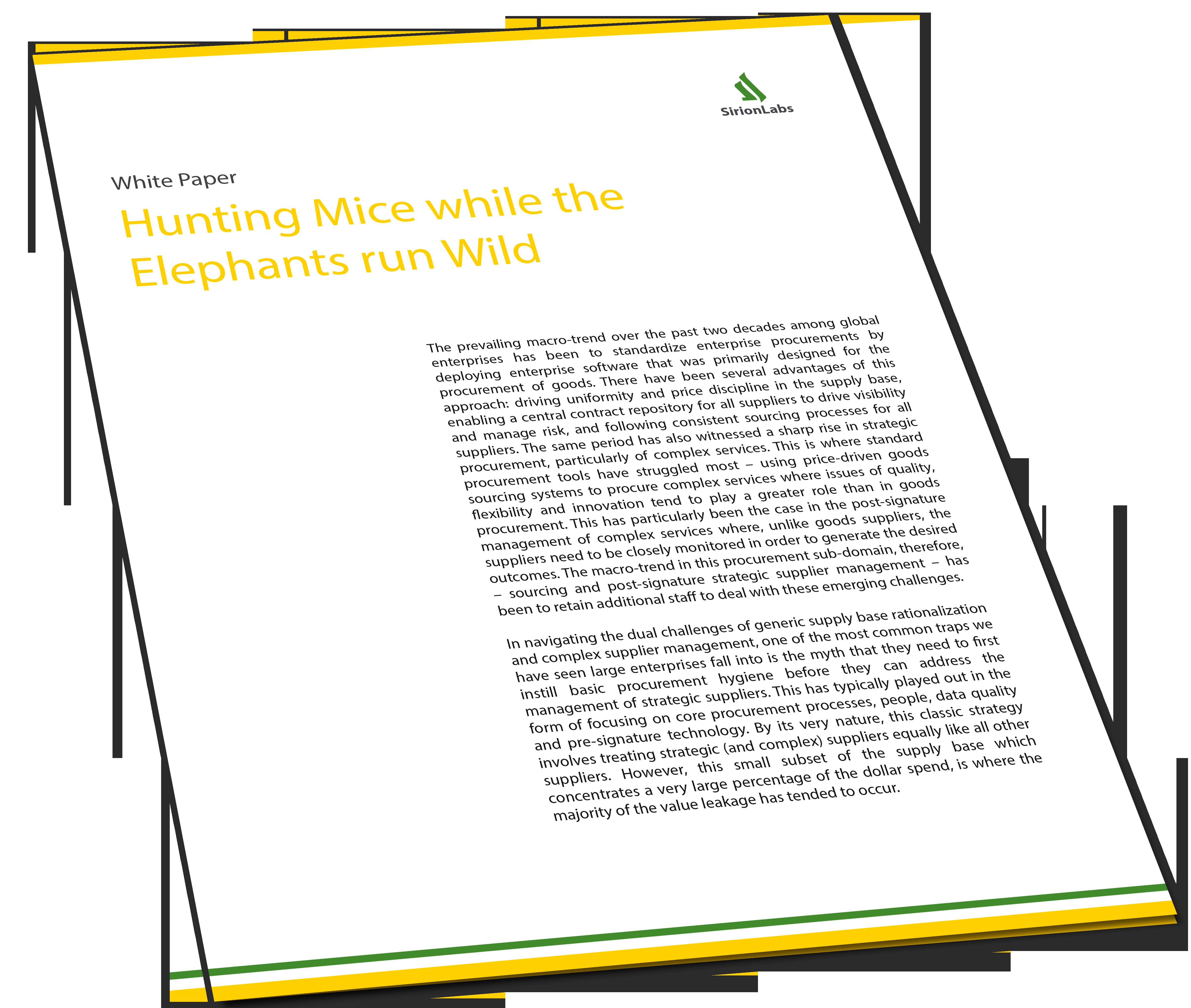 Whitepaper - Hunting Mice while the Elephants run Wild